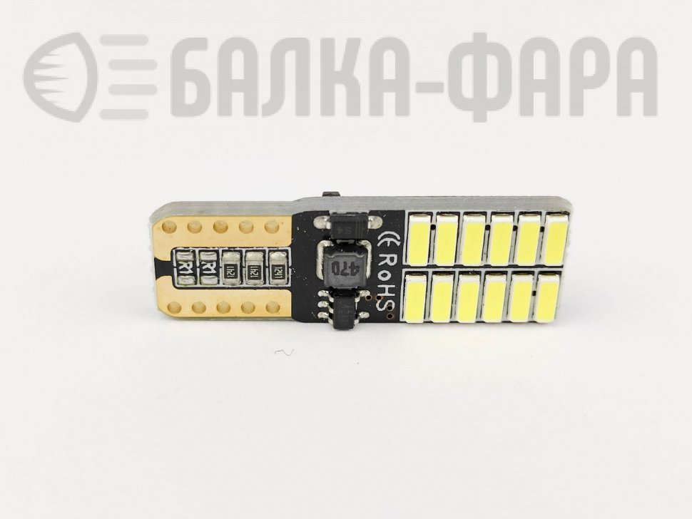 Лампа с/д T-10 24led 3014 canbus /1739/